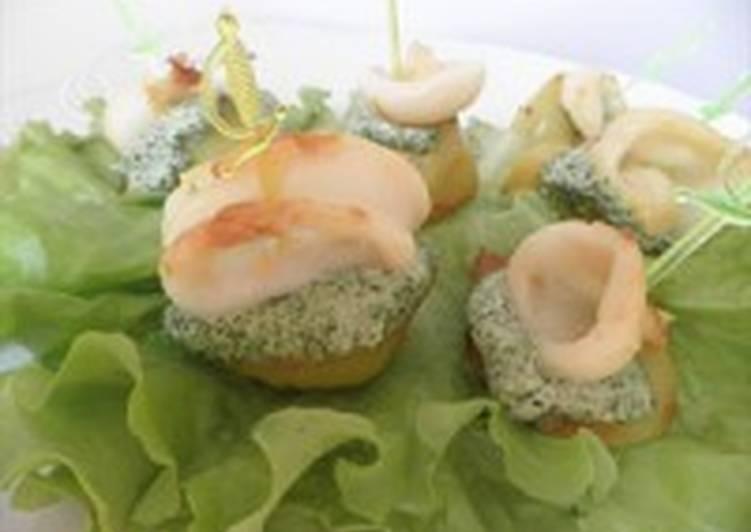 Закуска к пикнику «Кальмары на шпажках»