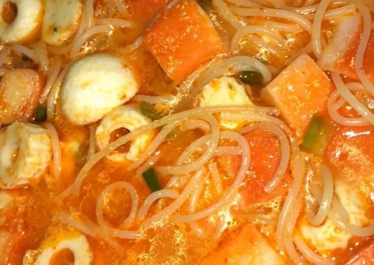 Spaghetti seafood kuah seblak