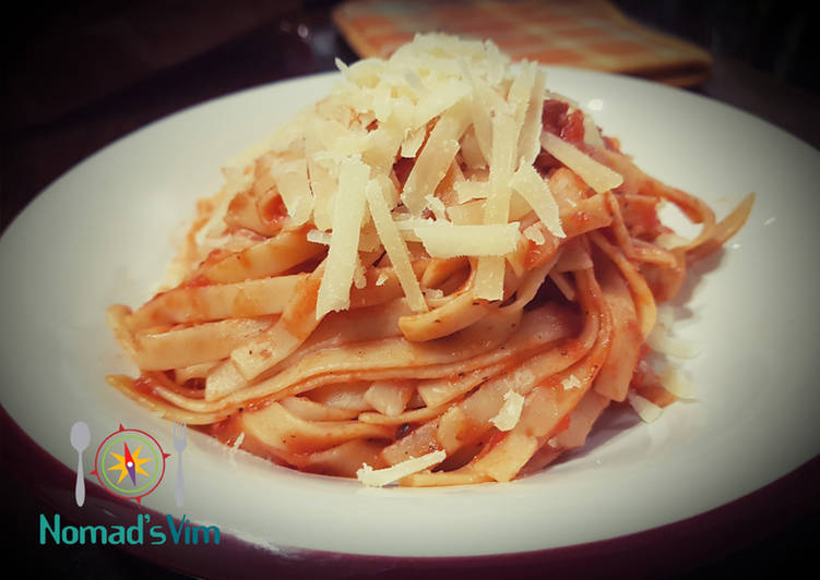 Recipe of Speedy Tagliatelle all'amatriciana
