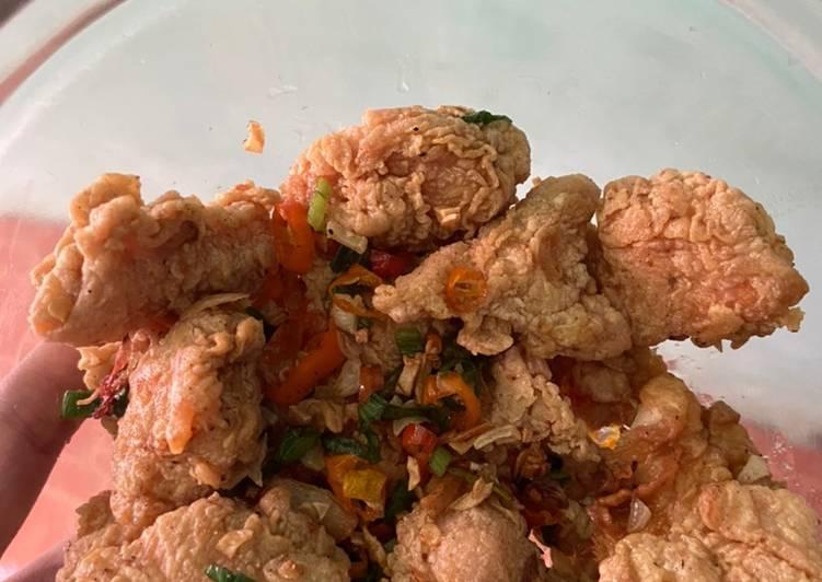 Resep Ayam lada garam Yang Mudah Bikin Nagih