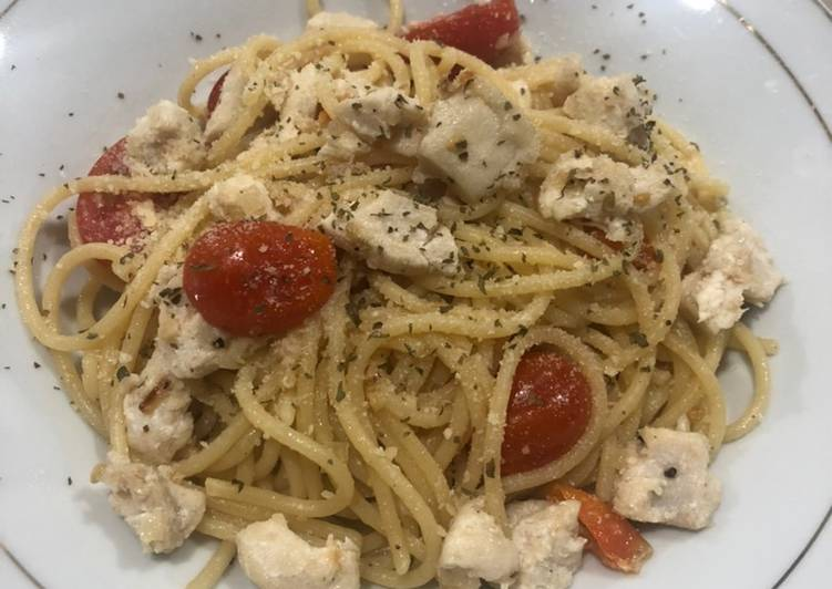Spaghetti Aglio e Olio ala Mamii Ocen