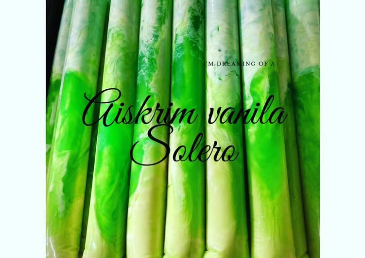 Aiskrim vanila solero - resepipouler.com