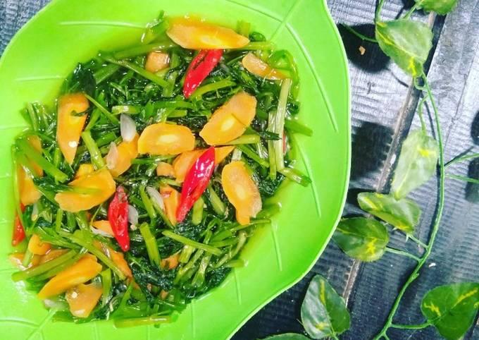 tumis kangkung wortel - resepenakbgt.com