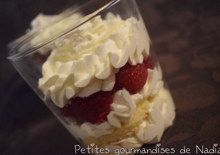 Verrines framboise chantilly