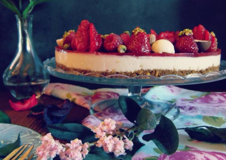 🍰🍓Cheesecake aux fruits rouges & eau de rose🍓🍰