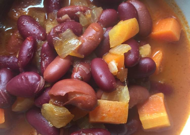 Kidney Beans with Carrots
