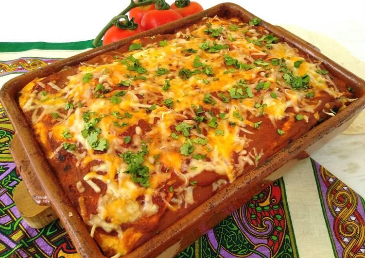 Lasaña mexicana receta vegetariana