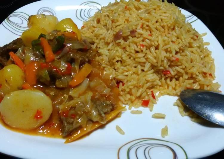 #jollofricecontest#jollof rice and beef gravy