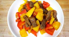 Hình ảnh món Beef and Bell Pepper Stir-Fry  Bò xào ớt chuông