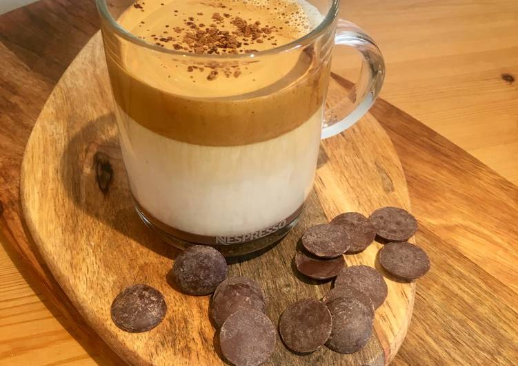Step-by-Step Guide to Prepare Homemade Dark Chocolate Laced Iced Dalgona Coffee 😁 🍫