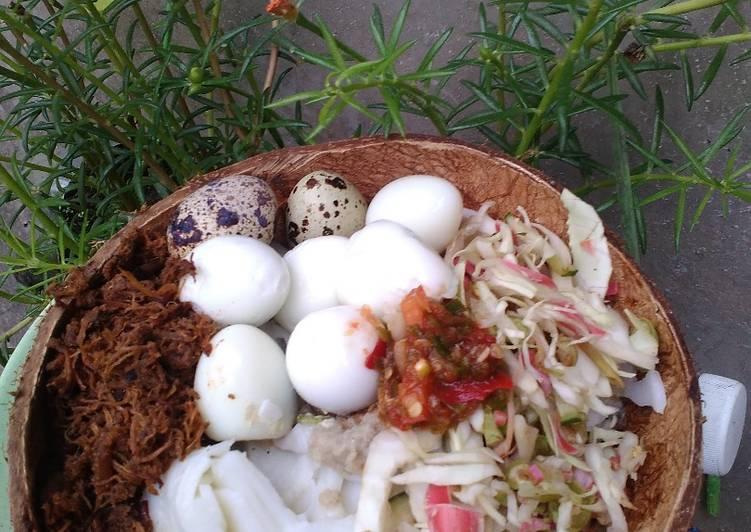 Laksam Special Klate Telur Puyuh Dan Serunding Daging #MaratonRaya #TelurPuyuh #Minggu7