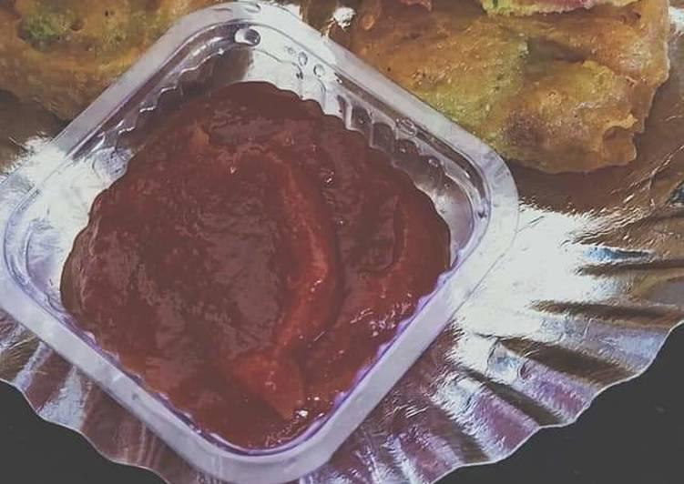 25 Minute Easiest Way to Make Spring Tomato fritters (lashkari bhajiya)