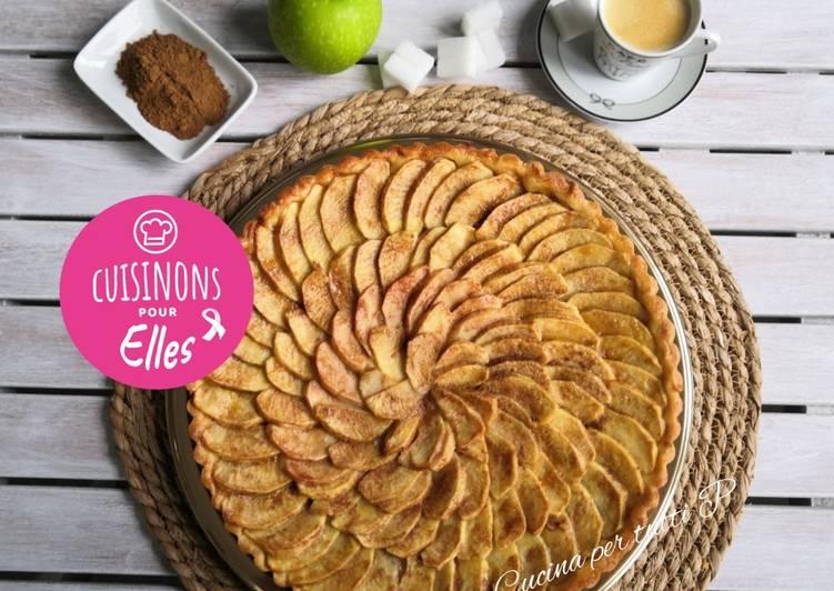 Recette Délicieuse Tarte aux pommes compote canelle