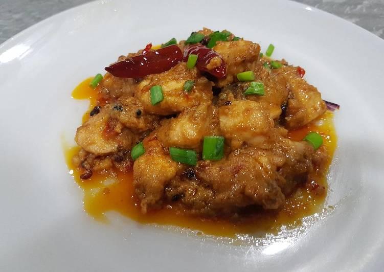 Chicken in Szechuan-Style Chilli Bean Peanut Sauce