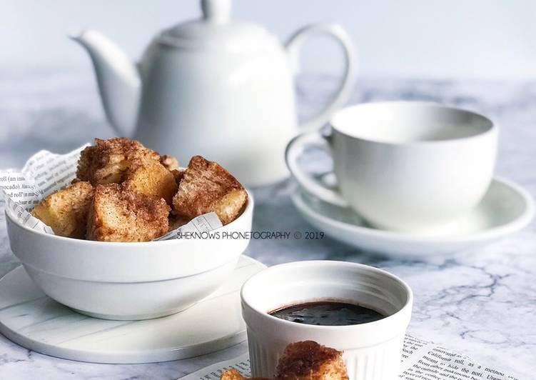 Cinnamon French Bread Bites  #maratonraya #kudapan #minggu4