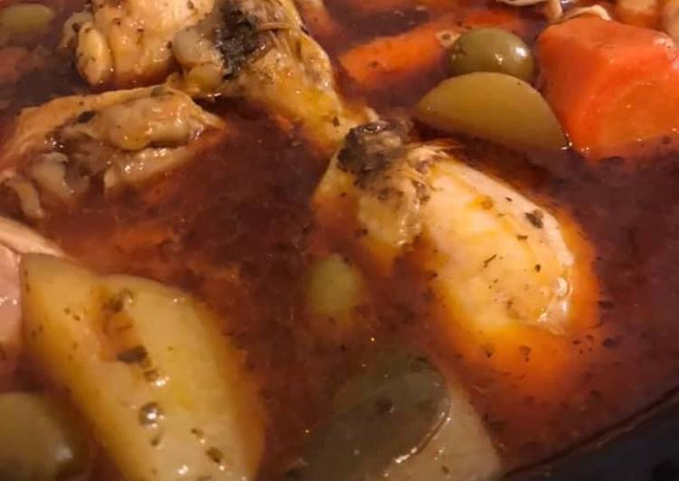Step-by-Step Guide to Prepare Super Quick Homemade Chicken stew Puerto Rican Pollo Guisado (Crockpot version)