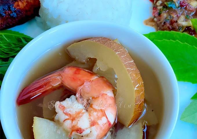 Sup Timun Tua bersama Udang (Eat Clean Healthy Menu)