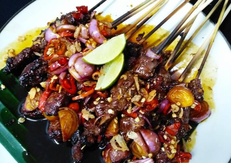 Resep Sate kambing bumbu kecap pedas Bikin Laper