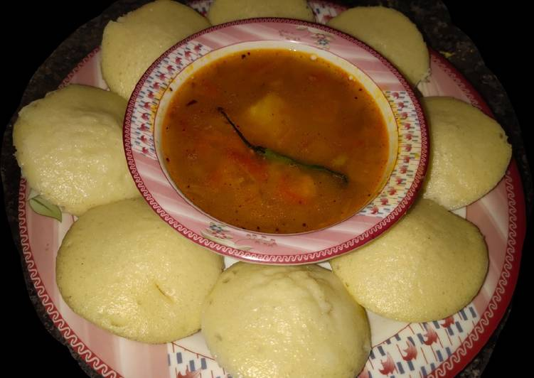 Easiest Way to Make Perfect Yummy Idli with Sambar