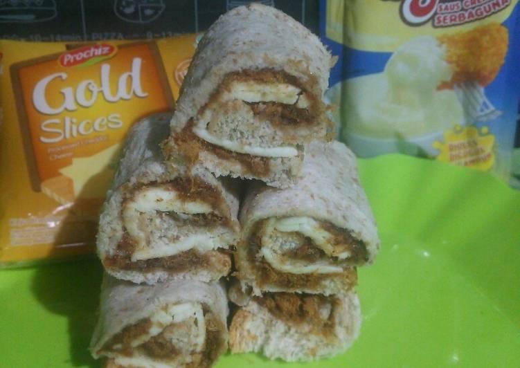 Sandwich gandum roll abon