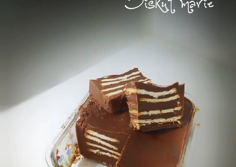 Puding coklat biskut Marie - velavinkabakery.com