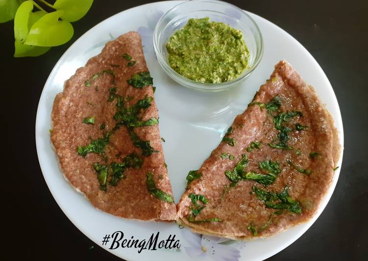 15 Minute Step-by-Step Guide to Make Spring Ragi-Oats Palak Dosa