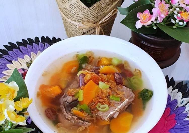 Resep Sup ayam kacang merah Yang Simple Endes