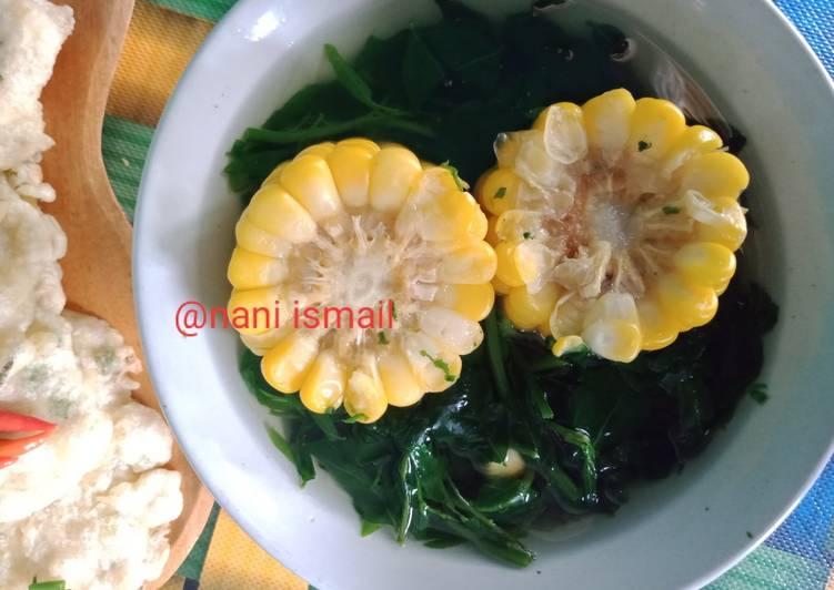 Sayur bening katuk+jagung(tegean katu)
