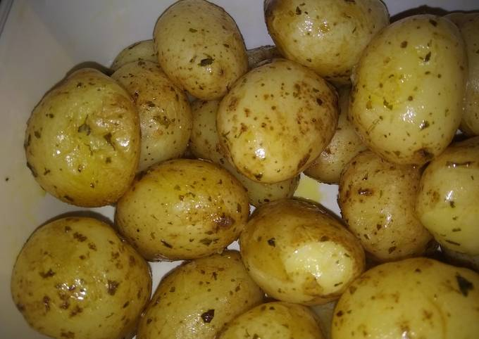 Pot roast potatoes