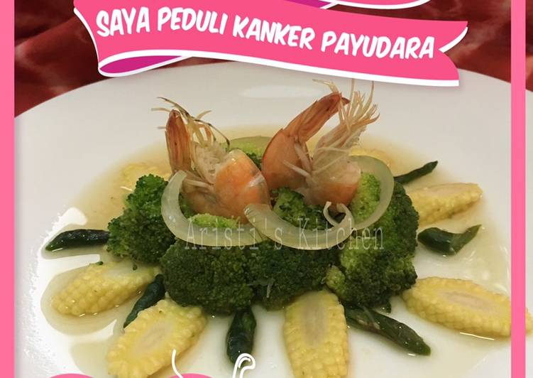 Tumis brokoli feat jagung putren cabe ijo #PejuangDapur #PeduliKankerPayudara
