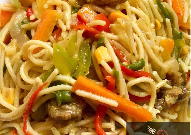 10 Best Practices for Fried spaghetti with vegetables and chopped beef