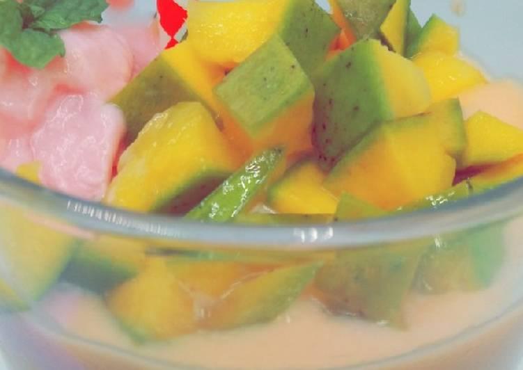 Mango Strawberry Smoothie #jikonichallenge