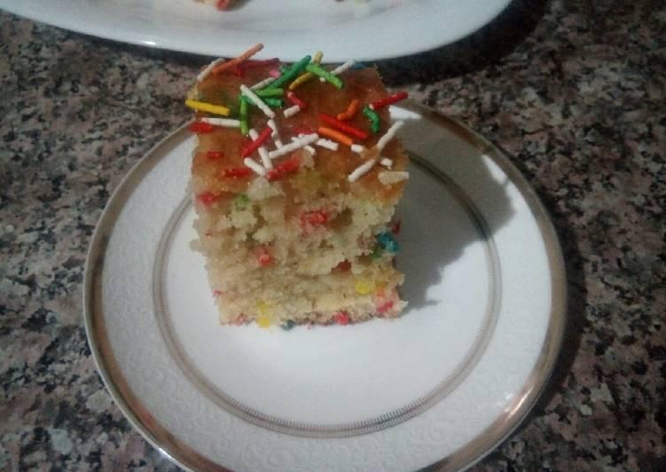 Cake aux chocolat vermicelles colorés