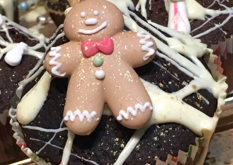 Weihnachtliche Schoko-Muffins