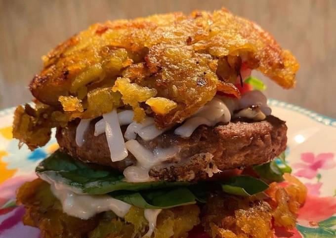 Patacón Beyond Meat Burger 𝓥 (𝙿𝚕𝚊𝚗𝚝 𝙱𝚊𝚜𝚎𝚍 𝙼𝚊𝚖𝚊𝚜🌿)