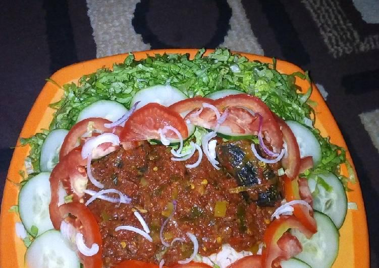 Turn Good Recipes into Great Recipes With Farar shinkafa da miyar kifi with salad
