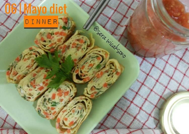 Cara membuat Mayo day 6 – dinner | telur gulung