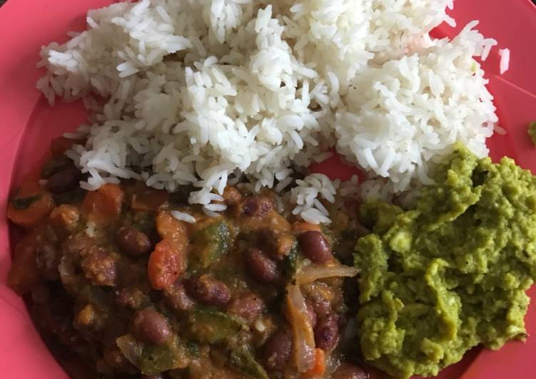 Recipe of Homemade Chipotle meal box- Rajma Chawal Guacamole