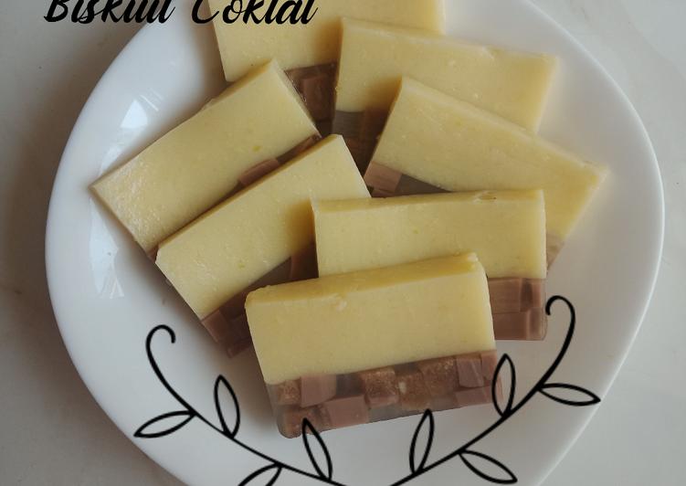resep cara mengolah Puding Mangga Biskuit Coklat