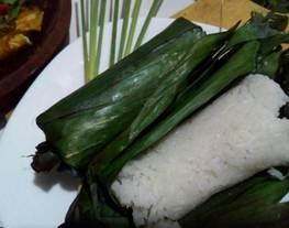 Nasi uduk rice cooker (nasi uduk bakar)