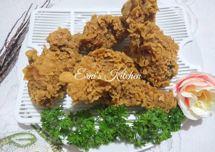 Cara Gampang Membuat Ayam Crispy rumahan rasa KFC, Sempurna
