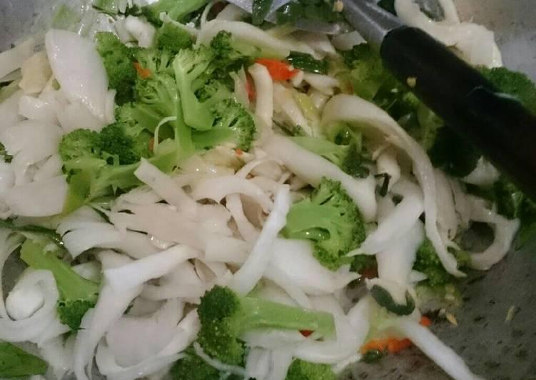 Cah brokoli jamur tiram