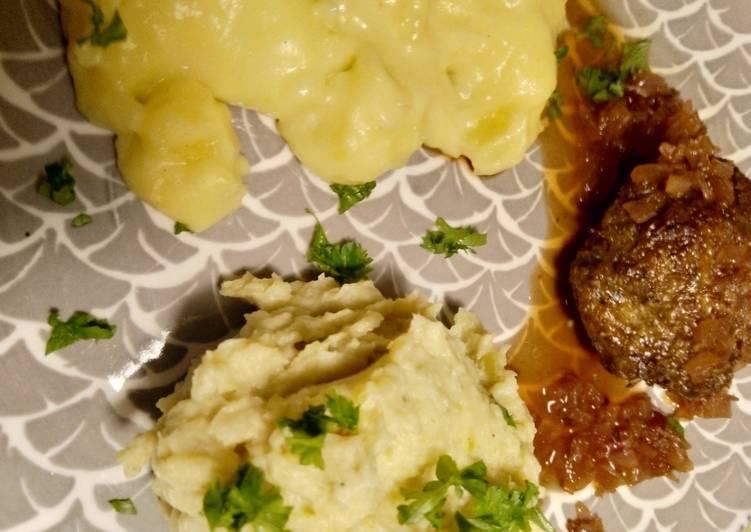 Rosenkohl-Mousseline mit Portwein-Zwiebel- Sauce