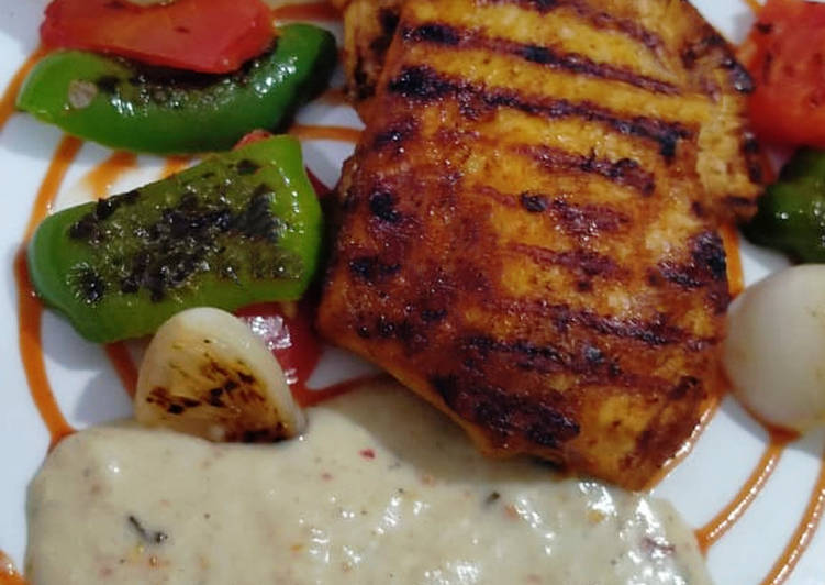Recipe of Perfect Grilled chicken with tarragon sauce