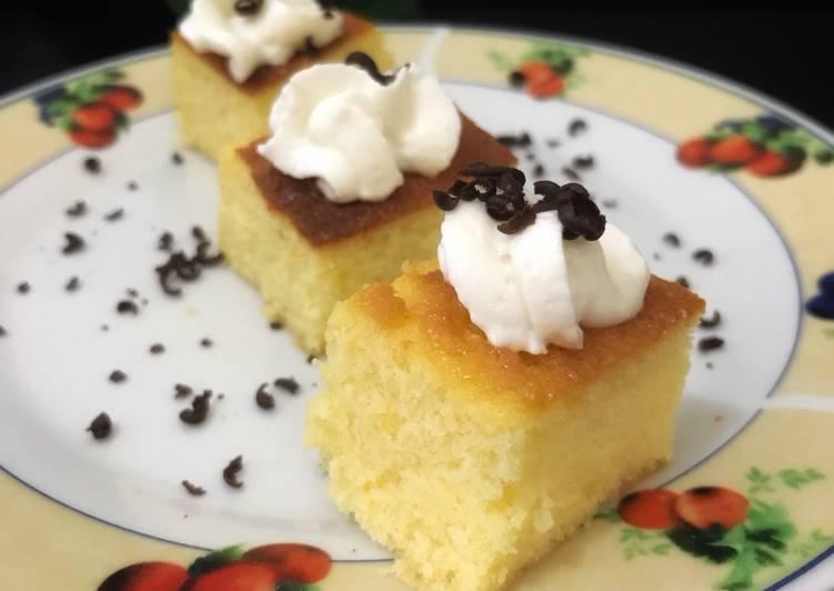 Cake Mangga Putih Telur dengan mini Oven Toaster