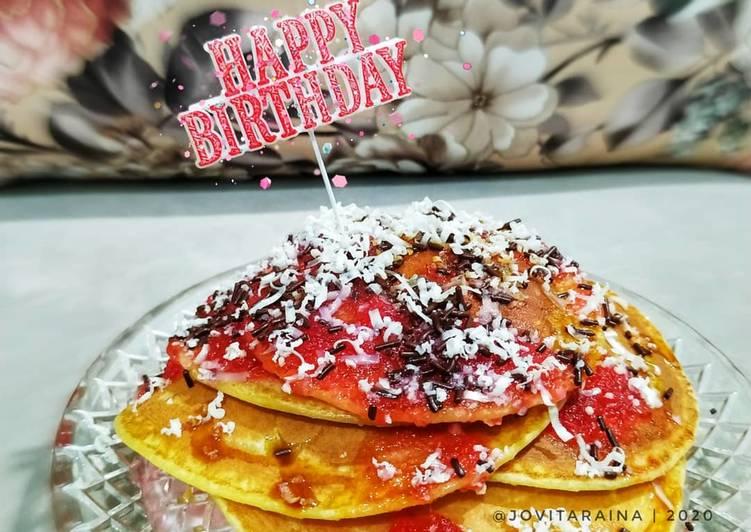 Resep Simple Pancake ala #dapurraina Favorit