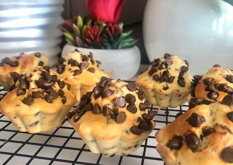 Recette Des Muffins pépites de chocolat sans beurre et sans sucre