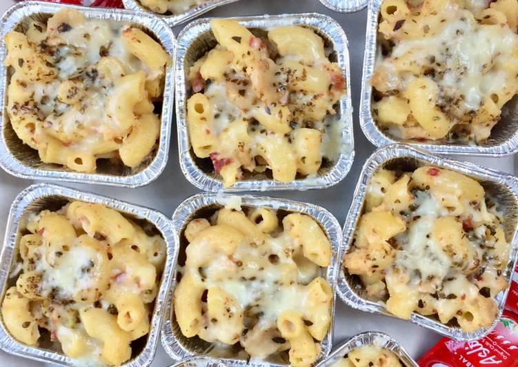 Macaroni schotel kukus (special telur bebek)