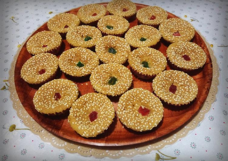 Recette Appétissante Gâteaux aux sésames miel ☕