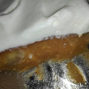 Gelatina de durazno y crema doble sin azúcar